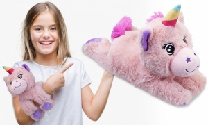 28cm Hugglers Snap Band Plush Unicorn