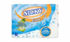 Nicky Elite 3Ply Super Absorbent Kitchen Towel (5 Pack Of 3 Rolls)