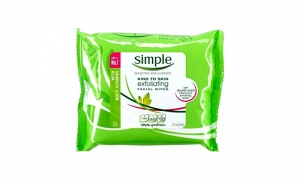 Simple Kind To Skin Exfoliating Facial Wipes 25 Pieces
