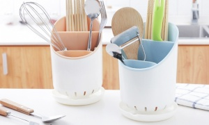 Kitchenware Collection Plastic Cutlery Rack