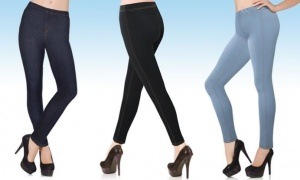 Denim Look  Jeggings  -  Available in 3 colours