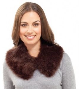 Ladies Plain  Faux Fur Collar - Available in Black or Brown