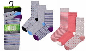 Ladies 3Pk Bamboo Socks
