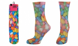 Ladies Digital Print Socks