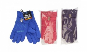 Ladies gloves with strap