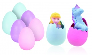 Large Growing Unicorn With Mermaid or Fairy in Egg in Assorted Colors
