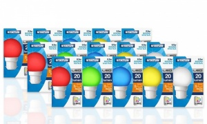 Status Round Mixed Colour LED Light Bulbs