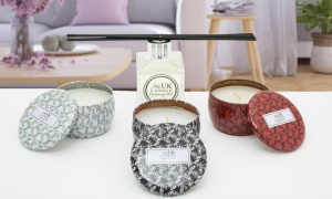 Luxury Christmas Scented Tin Candles with 100ML Reed Diffuser