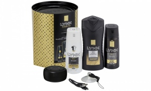 Lynx Gold Trio with Shower Speaker Gift Set