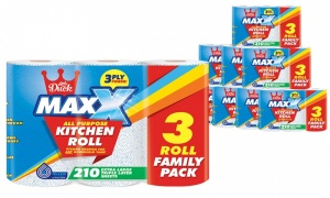 12 Rolls of Maxx 3ply Jumbo Kitchen Towel
