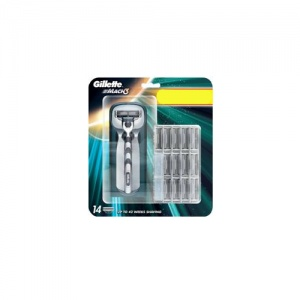 Gillette Mach 3 Manual Razor and 13 Blades