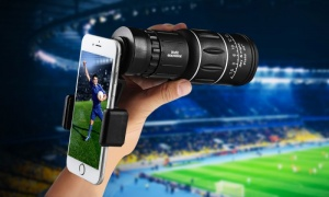 Universal Smartphone Telescopic Zoom Lens with Mount