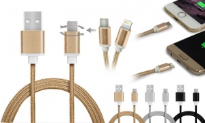 Micro USB/iPhone Dual Cables