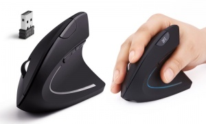 Aquarius Wireless Vertical Ergonomic Optical Mouse