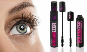 Waterproof Volumizer Mascara 11ml Step 1 Step 2