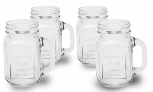 Mason Glass Jar with or without Lid