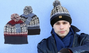 Men's Fairisle Pom Pom Hat