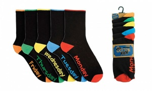 Pack of 5 Mens Day Of The Week Socks