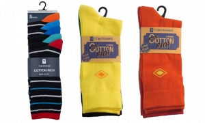 Mens Pack Of 5 Heel And Toe Socks