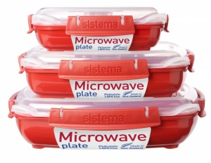 Sistema Microwave Plates with Removable Steaming Tray