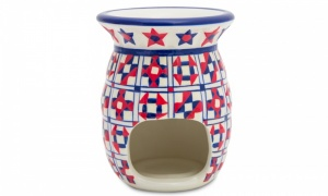 Moroccan Deco Patterened Large Ceramic Oil Burner
