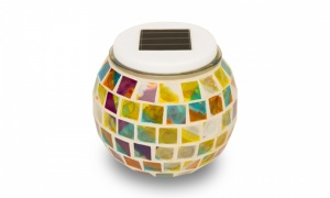 Colour Changing Mosaic Solar Glass Table Globe