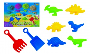600g Moving Sand With 8pc Dinosaur Accessories