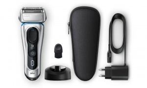 Braun Series 8 8350s Electric Shaver with Charging Stand & Fabric Case Silver
