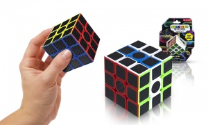 6x6cm Neon Magic Cube with 6 Asst Sides