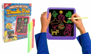 Neon Doodle Wipe Pad Light Up Board