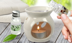 Oil Burner Gift Set with 10 Fragrance Aroma Oils