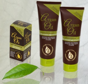 Moroccan Argan Oil - Hair Treatment, Shampoo and Conditioner Set