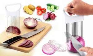 Onion and Vegetable Slicing Aid
