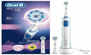 Oral B Pro 570 Sensi Ultra Thin Electric Toothbrush with Refill Head
