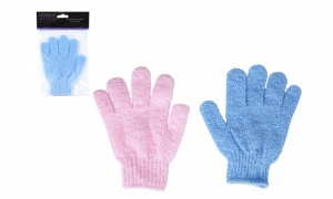Pair Of Exfoliating Gloves In PVC Bag W Header Card