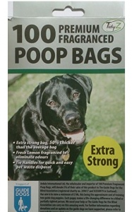 100 PREMIUM FRAGRANCED EXTRA STRONG POOP PET CLEAN UP BAGS