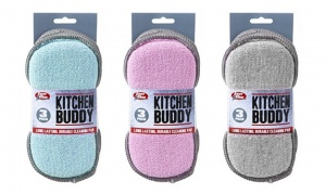 Assorted Kitchen Buddy 2 in 1 Scrub Pad