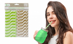 Pack Of 40 Eco Connections Paper Straws
