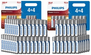 Phillips Alkaline AA and AAA Batteries