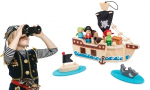 Tobar Pirate Ship Wooden Playset