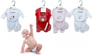 Pitter Patter 4 Piece Baby Clothing Set