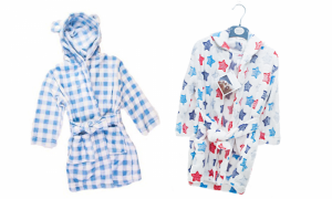 Pitter Patter Baby Fleece Robe / Dressing Gowns