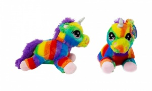 Plush Multi Coloured Unicorns