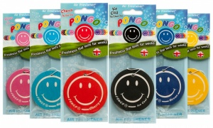 Pongo Smiley Face Car Air Freshener