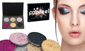 6 colors  high pigment glitter eyeshadow palette