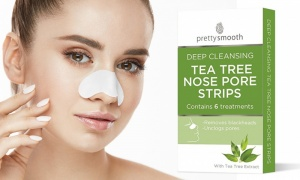 Pretty Deep Cleansing Tea Tree Nose Strips - Pack of 6