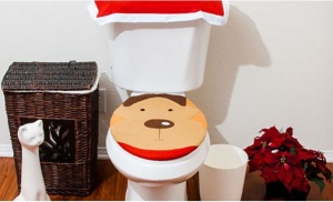 3pcs Reindeer Toilet Seat Cover Set