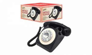 Benross Classic Retro Vintage Style Home Telephone - Black