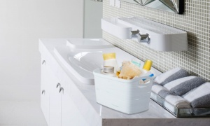 Curver Ribbon White Storage Basket