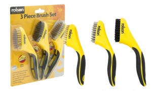 Rolson 3 Piece Wire Brush Set